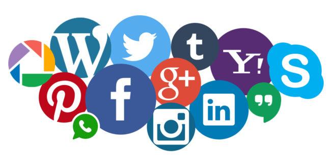 social media iconen bij elkaar